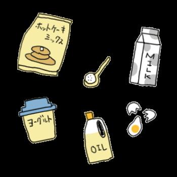 インコ蒸しパンに必要な材料