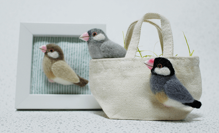 mochimochiと一緒に鳥さんブローチを作ろう!文鳥編